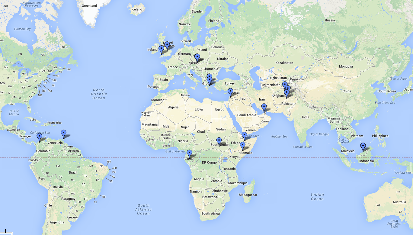Current SCID Student Locations – Based in 34 Countries, Many ...