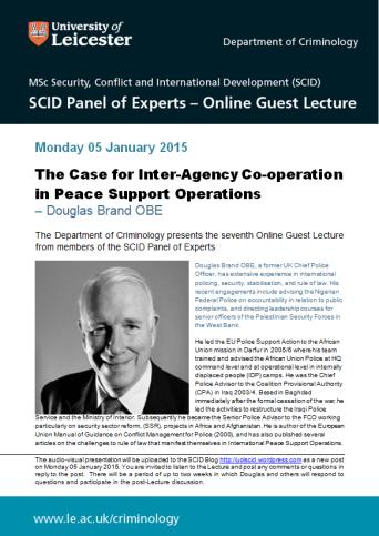 Douglas Brand Online Guest Lecture - advert